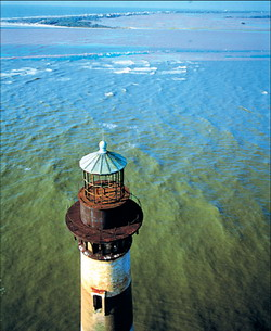 Lighthouse in a Charleston, SC waterway