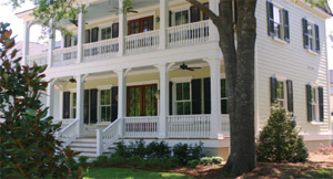 a home on a wooded lot in Daniel's Orchard in Summerville, South Carolina