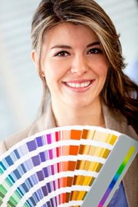 Interior Designer with Color Swatches