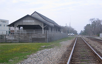 a railroad train depot in Moncks Corner, South Carolina