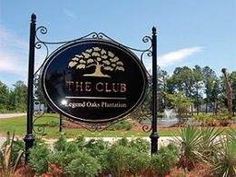 Photo of the sign for The Club at Legend Oaks Plantation in Summerville