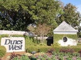 a Dunes West entrance in Mount Pleasant, South Carolina