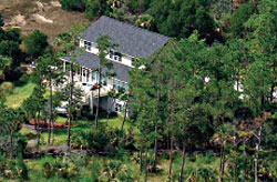 an aerial photograph of a home in Paradise Island in Mount Pleasant, South Carolina