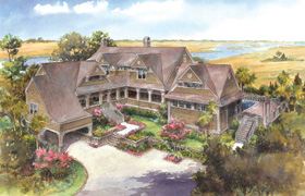 illustration of a home done Zach T. Carney Architects